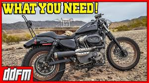 how to build an off road harley sportster scrambler youtube