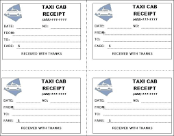 Taxi Receipt Template Invoice Format Cab Ms Excel Bill