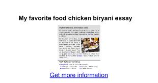 my favorite food chicken biryani essay google docs
