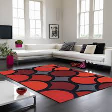 harlequin ha10 007 bubble red geometric rug by asiatic 1