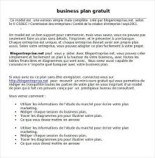 simple business model template simple business plan template word best example gratuit strong