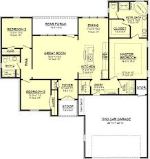 European Style House Plan - 3 Beds 2.00 Baths 1575 Sq/Ft Plan #430