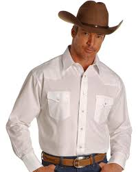 Wrangler Western Shirt  Big Tall White hires