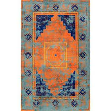 lucina vintage medallion blue 8 ft x 10 ft area rug