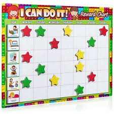 Details About Luigis Large Safari Animal Magnetic Star Reward Chart For Kids Encourages G