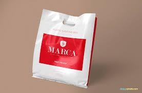 Plastic Bag Design Free Plastic Bag Mockup Creativebooster