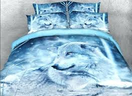 wolf in the wild printed cotton 4 piece bedding sets duvet covers comforter set twin size