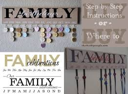 family birthdays or celebrations wall hanging plaque step step diy family birthday calendar