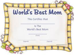 Mother S Day Certificates To Print Under Fontanacountryinn Com