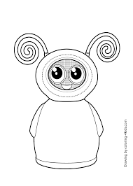 Fijit Friends Willa Toy Coloring Page