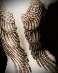 фото тату крылья на спине у девушек