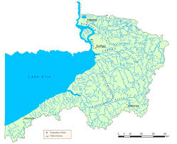 niagara river  lake erie watershed map  nys dept of