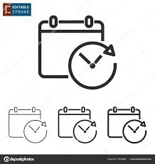 calender outline planning calendar outline vector icon editable stroke stock