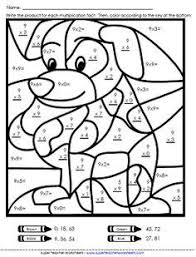 math coloring worksheets. Simple Worksheets Math Color Worksheets  Multiplication  Basic Facts In Coloring