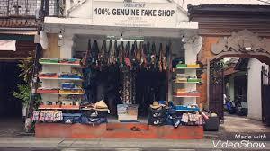 Bali Designer Shops Genuine Fake Shop Bali Is Not Rip Still Alive Youtube