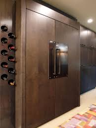 Photos Hgtv Wood Paneled Refrigerator With Industrial Touches In Modern  Kitchen