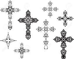 Cross Art Design Christian Cross Design Vector Art