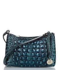 Brahmin Melbourne Collection Anytime Mini Crocodile-Embossed Shoulder Bag