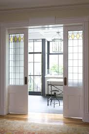 interior sliding pocket french doors. Sliding Pocket Doors Between The Dining Room And New Kitchen Extension Were Designed To Complement Original Leaded Glass Elsewhere In House. Interior French E