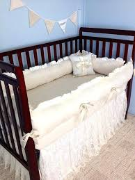 ivory baby bedding sets lace baby crib bedding ivory cotton and ruffled lace crib skirt cotton ivory baby bedding sets