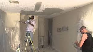 Knock Down Ceiling Texture Blue Sky Popcorn Ceiling Removal Knockdown Texture Youtube