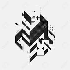 Abstract Design Abstract Design Element On White Background Geometric Modern