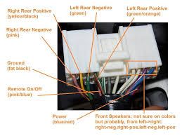 mpvclub com view topic 2004 mazda mpv stereo audio wiring at this point if you were to change the stock head unit and were keeping the original speakers you could buy a wiring harness from somewhere such as
