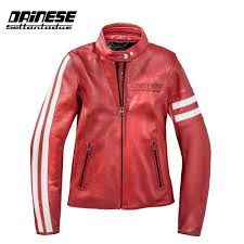 dainese freccia 72 lady leather jacket red zoom