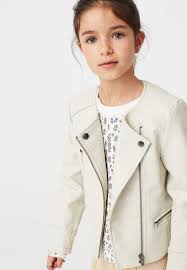mango daniela faux leather jacket beige kids mango heels