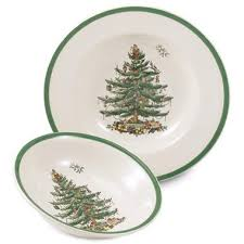 Amazoncom Green  Cereal Bowls  Bowls Home U0026 KitchenSpode Christmas Tree Cereal Bowls
