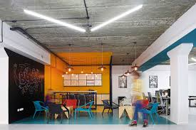 office industrial. view in gallery innovative office armenia is filled with color and industrial flair