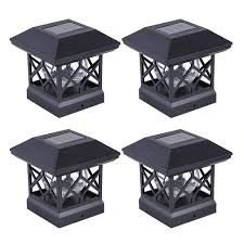 Led Post Cap Lights 4x4 Solar Post Cap Lights Outdoor Waterproof Led Fence Post Solar Lights For 4x4 Wood Posts In Patio Deck Or Garden Decoration 4 Pcs