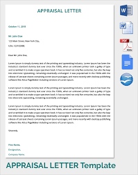 Gallery Of Appriasal Letter