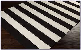 black and white striped rug runner