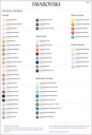 Pearl Color Chart Swarovski Crystal Pearl Cabochons Color Chart