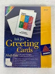 Avery Greeting Cards Avery Half Fold Greeting Cards Inkjet 5 1 2 X 8 1 2 Matte