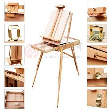 adjule wooden artist tabletop easel with handle oil painting tabletop box for oil painting sketch easel convinent carry aliexpress mobile
