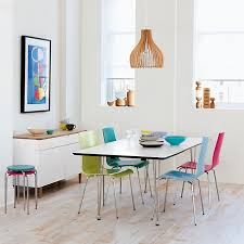 furniture village fun dining with rainbow chairs trying to balance the madness
