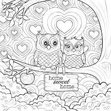 かわいいフクロウ 芸術療法大人のぬりえページ