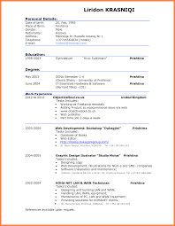 Example Of An Excellent Resume Best Of Very Good Cv Examples Tierbrianhenryco