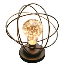 Atomic Age Accent Light Atomic Age Table Lamp Modern Led Metal Accent Light Neils Bohr Atomic Model Walmart Com