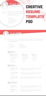 Free Creative Resume Template Free Psd Resource Resume