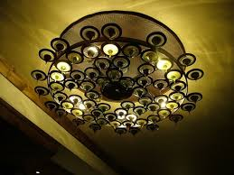 we create hand blown glass chandeliers