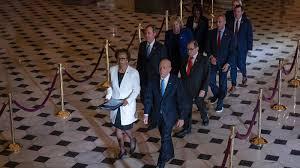 Impeachment Managers Deliver Articles To Senate : NPR
