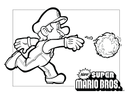 Super Mario Brothers Online Coloring Pages Galaxy 2 Free To Print