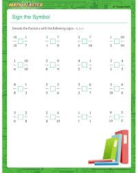4Th Grade Math Worksheets Fractions Free Worksheets Library ...