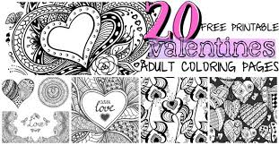 Free owls in love with hearts coloring page printable. 20 Free Printable Valentines Adult Coloring Pages Nerdy Mamma