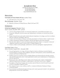 Resume Template Litigation