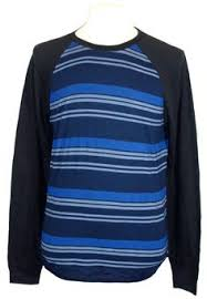 lucky brand long sleeve cotton blues solid thermal shirt lucky brand mens shirt raglan crewneck striped tee navy blue black xxl 2xl new