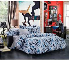newest blue camouflage cool bedding sets queen full size for boys mens reversible duvet cover grey bed sheet set bed linen bed in a bag bedspreads and